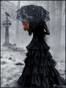 Dark Lady in Cemetary