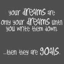 DreamsWrittenDownAreGoals