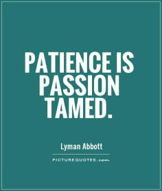 Patience - PassionTamed